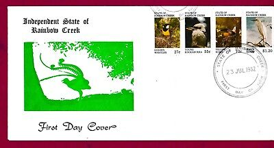 Aust Cinderella Stamps.Rainbow Creek Stamps.Rainbow Creek FDC From 1982