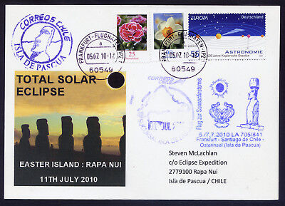 2010. Easter Island (Rapa Nui) Total Solar Eclipse German Expedition Cover.