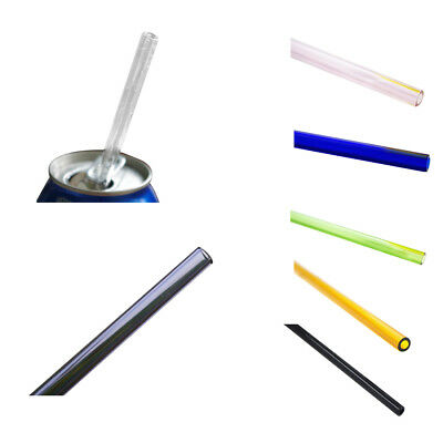 High borosilicate glass Drinking Straw Wedding Birthday Party Diameter 8mm BG