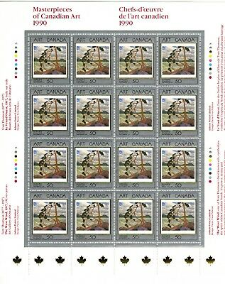 Canada Stamp #1271 Inscription Sheet or Pane 16 stamps MNH Art Masterpieces