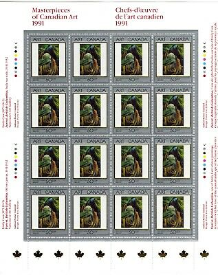 Canada Stamp #1310 Inscription Sheet or Pane 16 stamps MNH Art Masterpieces
