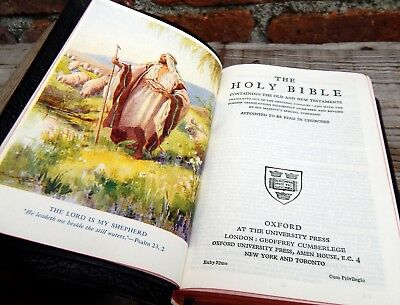 Vintage Mid Century Holy Bible Illustrated Oxford University Press - Religion
