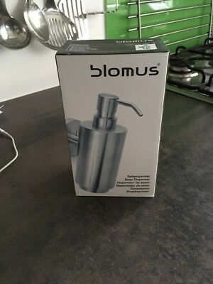 Blomus Soap Dispenser Primo with Wall Holder Stainless Steel Matte 350 ml 68416
