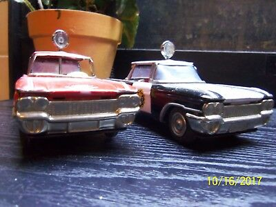Vintage Tin Friction Cadillacs Two Made In Japan 1960S Maker Is Unknown