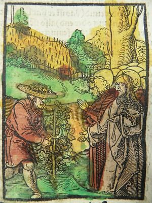 Hans Schäufelein Incunable Woodcut Plenarium 1516 Parable Of The Vineyard Wine