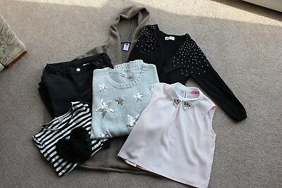 Mixed Girls Small 6 piece  Bundle Of Clothes Age 10-11yrs -Used