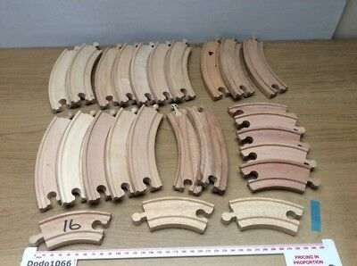 Job Lot of Varied Curved Tracks - Wooden Train Track (BRIO, Thomas etc)