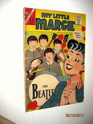 MY LITTLE MARGIE #54 Comic Book The Beatles  Cover Silver Age 1967