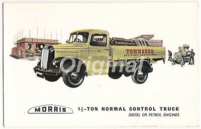 ORIGINAL Morris 1½-Ton Normal Control Truck Dealer Postcard 1950s/60s RARE