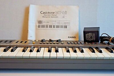 Casio Casiotone MT-68 Vintage Electronic Keyboard Synthesizer- Works Great