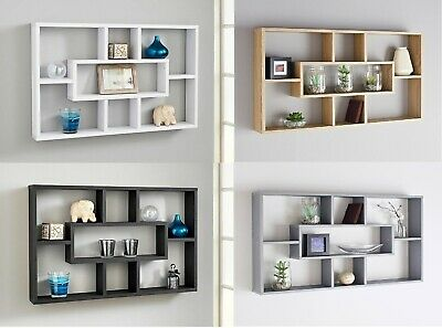 Stylish Space Saving Floating Wall Shelves Display Shelf Bookshelf Storage Unit