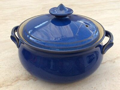 DENBY Imperial Blue Casserole Dish 8.75 Inches Round Very Light Use FREE POSTAGE