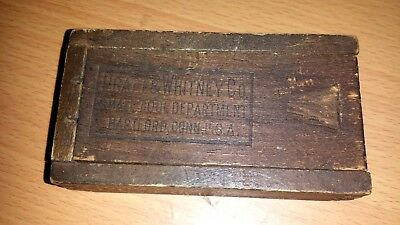 Vintage Pratt & Whitney  Small Wooden Box With Drills And Taps  (As Found)