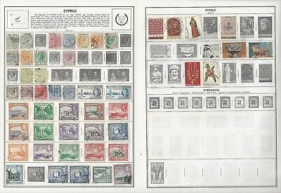 Cyprus Collection 1882 to 2000 on 11 Harris Pages