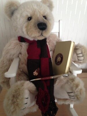 Charlie Bear.....Kenny....19 ins...comes with charlie bears book and pen
