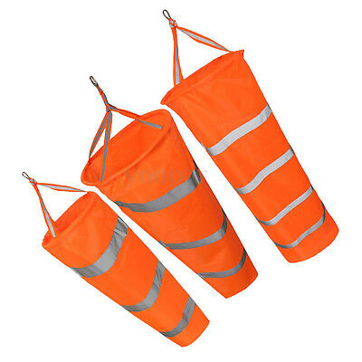80cm Aviation Windsock Rip-stop Wind Measurement Sock Bag + Reflective Belt BG