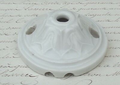 Antique 1940's French Porcelain Ceiling Rose Light Fitting China