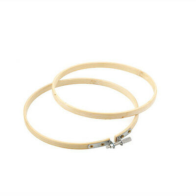 1x Bamboo Wooden Embroidery Cross Stitch Hoop Ring Craft Machine Tool Decal 17cm