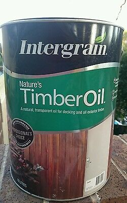 SAVE up to $67! 8L's INTERGRAIN NATURES TIMBER OIL! Decking Oil RP$196