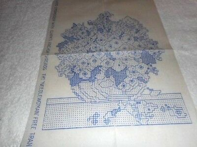 Vintage Embroidery Iron on Transfer- Needlewoman No. 150 - Flowers