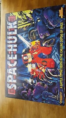 SPACE HULK 2nd edition BOARD GAME - complete, unpainted, great con [ENG, 1996]