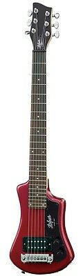 Hofner HCT Shorty Electric Travel Guitar - Red