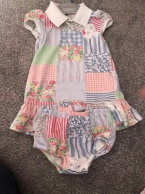 Ralph Lauren girls dress with matching pants 9 months