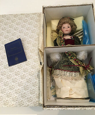 """Franklin Mint Heirloom Doll, approx, 16"""" - Angelica, The Faberge Chrismas Angel"""