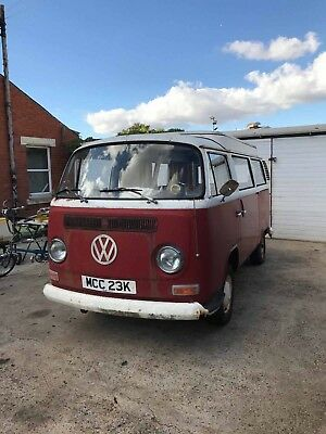 1972 Vw t2 type 2 early crossover bay 2 FORMER KEEPER 50k miles camper project