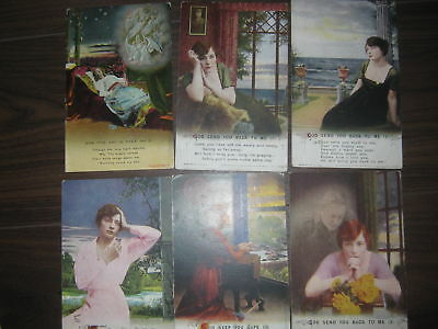 Bamforth songs postcards  6 x assorted