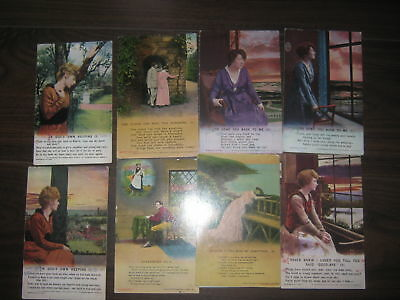 Bamforth songs postcards  9 x assorted