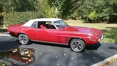 1969 Pontiac Firebird convertible 1969 Firebird Convertible Rare Madator on Red