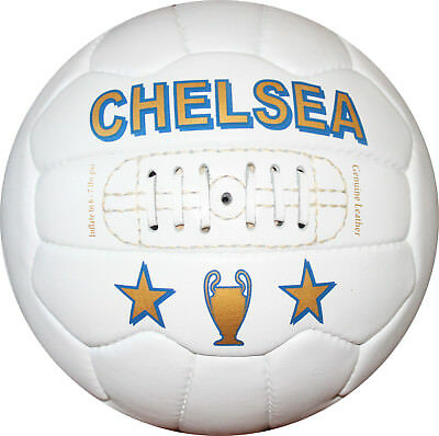 CHELSEA - Vintage Leather Soccer Ball 1966 -- 100% leather