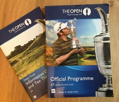 2011 Open Golf Programme, With Information Guide For Friday 15th July