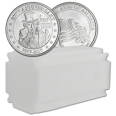 1 oz. Highland Mint Silver Round - Uncle Sam Design (Lot, Roll, Tube of 20)