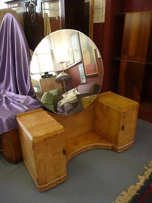 Epstein Art Deco Birdseye Mable & Sycamore Dressing Table c1925 -35