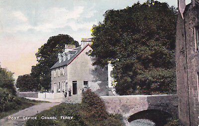 POST OFFICE, CONNEL FERRY,  By OBAN- 1908 Postcard.