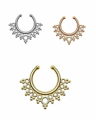 3 pcs Nose Hanger Clip On Jewelry Septum Fake Nose Ring Non Piercing New