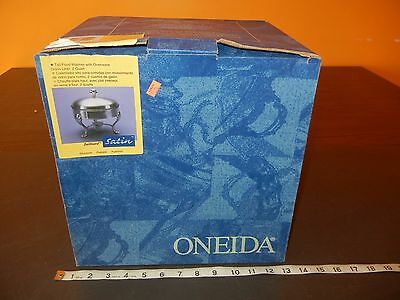 ONEIDA Chrome Silverplated JUILLIARD 2 quart Food Warmer Serving CHAFING DISH