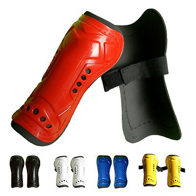 Red Durable New 1 Pair Competition Pro Soccer Shin Guard Shinguard Protector BG