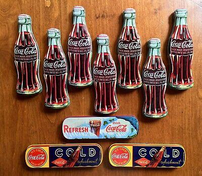 Large Lot of 10 Vintage Coca Cola Coke Pen Tin Combos Collectables Collection