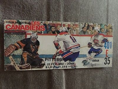 Montreal Canadiens VS. Pittsburgh Penguins 1993 Game Ticket