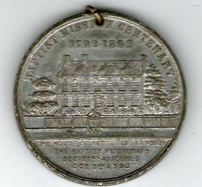 KETTERING BAPTIST MISSIONARY MEDAL 1892 West Indies Slavery Africa China India
