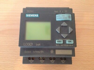 Siemens Logo 24R 6 DC inputs 4 relay outputs with memory card