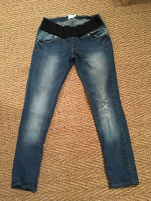 ASOS Skinny Distressed Maternity Jeans Under Bump Size 12