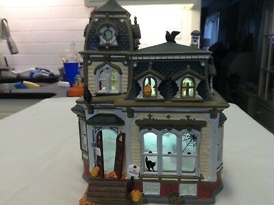 Dept 56 Halloween Snow Village Haunted Mansion Rotating Projection Screen 54935