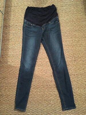 H&M Super Skinny Maternity Mama Jeans Jeggings Size 12 Over The Bump