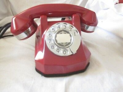 RED & CHROME Automatic Electric Model 40 Telephone