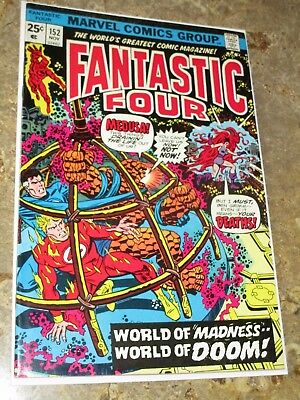 Fantastic Four #152 High Grade Buckler Mooney Medusa (Inhumans) Mahkizmo Thundra