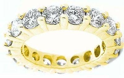 6 ct Round DIAMOND ETERNITY RING 14k GOLD BAND 15 x 0.40 ct each VS/SI1 any size